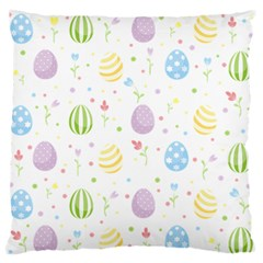Easter Pattern Large Flano Cushion Case (two Sides)