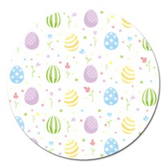 Easter Pattern Magnet 5  (round)