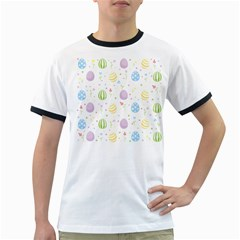 Easter Pattern Ringer T Shirts