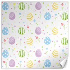 Easter Pattern Canvas 16  X 16