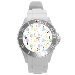 Easter Pattern Round Plastic Sport Watch (l)