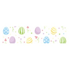 Easter Pattern Satin Scarf (oblong)