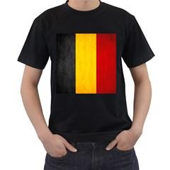 Belgium Flag Men s T Shirt (black) (two Sided)