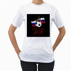 Russia Football World Cup Women s T Shirt (white) (two Sided)