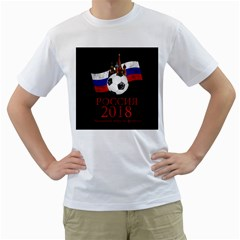Russia Football World Cup Men s T Shirt (white) (two Sided)