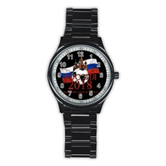 Russia Football World Cup Stainless Steel Round Watch