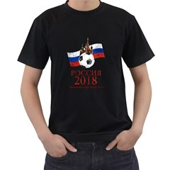 Russia Football World Cup Men s T Shirt (black) (two Sided)