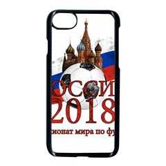 Russia Football World Cup Apple Iphone 8 Seamless Case (black)
