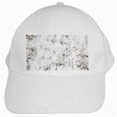 Grunge Pattern White Cap