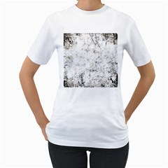 Grunge Pattern Women s T Shirt (white) (two Sided)