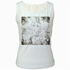 Grunge Pattern Women s White Tank Top