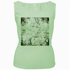 Grunge Pattern Women s Green Tank Top