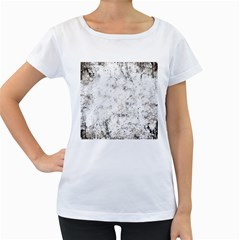 Grunge Pattern Women s Loose Fit T Shirt (white)