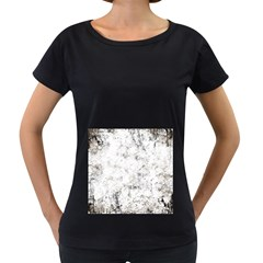 Grunge Pattern Women s Loose Fit T Shirt (black)