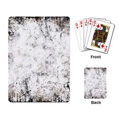 Grunge Pattern Playing Card