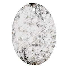 Grunge Pattern Oval Ornament (two Sides)