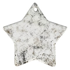 Grunge Pattern Star Ornament (two Sides)