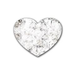 Grunge Pattern Heart Coaster (4 Pack)