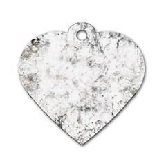 Grunge Pattern Dog Tag Heart (one Side)