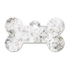 Grunge Pattern Dog Tag Bone (two Sides)