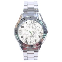 Grunge Pattern Stainless Steel Analogue Watch