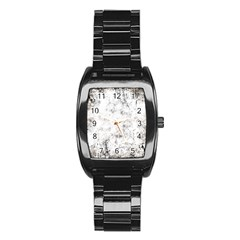 Grunge Pattern Stainless Steel Barrel Watch