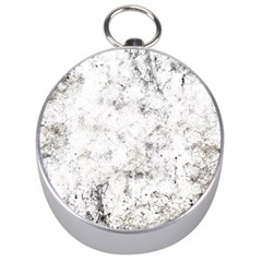 Grunge Pattern Silver Compasses