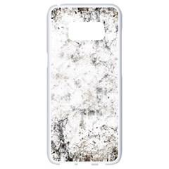 Grunge Pattern Samsung Galaxy S8 White Seamless Case