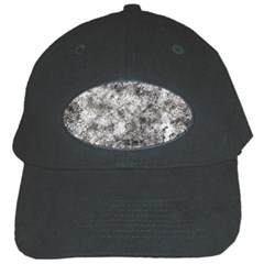 Grunge Pattern Black Cap