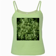 Grunge Pattern Green Spaghetti Tank