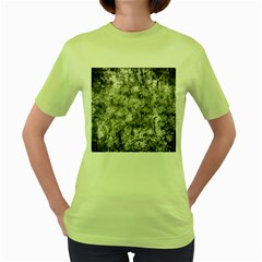Grunge Pattern Women s Green T Shirt