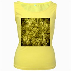Grunge Pattern Women s Yellow Tank Top
