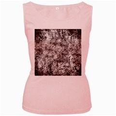 Grunge Pattern Women s Pink Tank Top