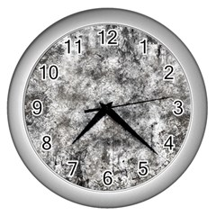 Grunge Pattern Wall Clocks (silver)