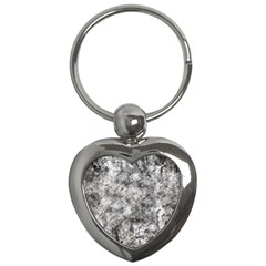 Grunge Pattern Key Chains (heart)