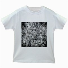 Grunge Pattern Kids White T Shirts