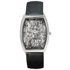 Grunge Pattern Barrel Style Metal Watch