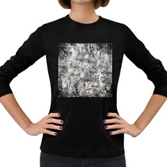 Grunge Pattern Women s Long Sleeve Dark T Shirts