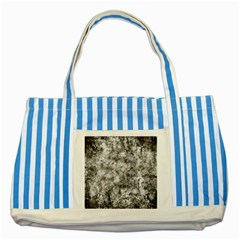 Grunge Pattern Striped Blue Tote Bag