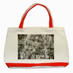 Grunge Pattern Classic Tote Bag (red)