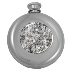 Grunge Pattern Round Hip Flask (5 Oz)