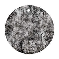 Grunge Pattern Round Ornament (two Sides)