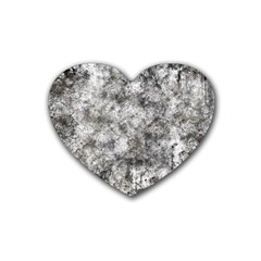 Grunge Pattern Heart Coaster (4 Pack)