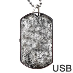Grunge Pattern Dog Tag Usb Flash (two Sides)