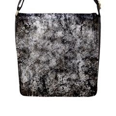 Grunge Pattern Flap Messenger Bag (l)