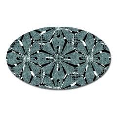Modern Oriental Ornate Pattern Oval Magnet