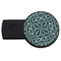 Modern Oriental Ornate Pattern Usb Flash Drive Round (2 Gb)