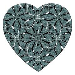 Modern Oriental Ornate Pattern Jigsaw Puzzle (heart)