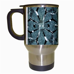 Modern Oriental Ornate Pattern Travel Mugs (white)
