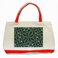 Modern Oriental Ornate Pattern Classic Tote Bag (red)